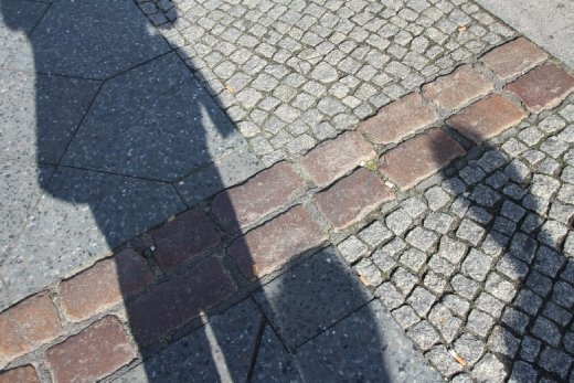 These bricks follow the entire length of where the Berlin Wall once stood