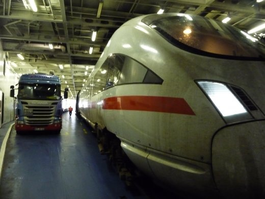 Train on Ferry to Denmark