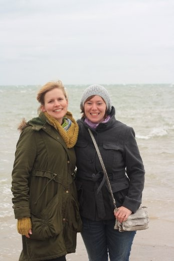 With Jill in Skagen - the Northern tip of Denmark