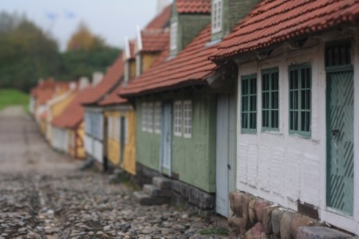 Mini village of the old town of Fredericia