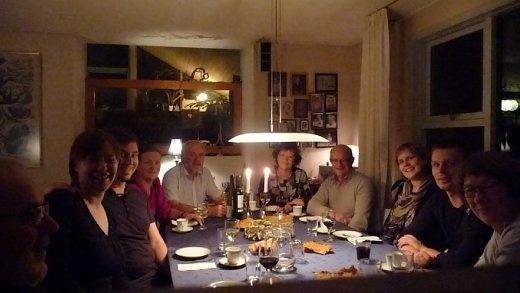 Final farewell get together with host families & Jill & Jesper