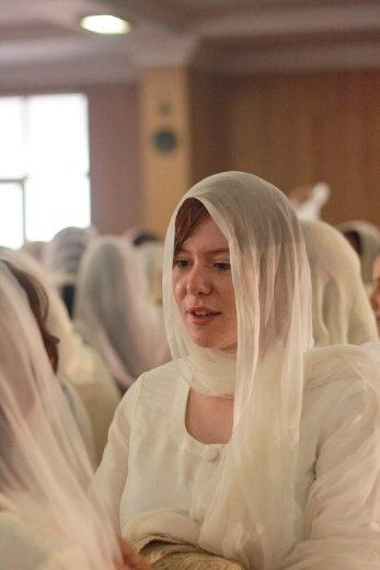 Ingrid at The wedding ceremony