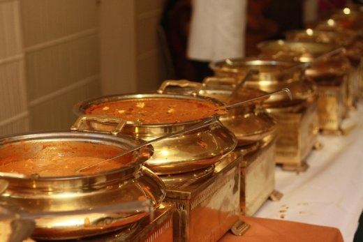 The never ending row of curries of the wedding lunch