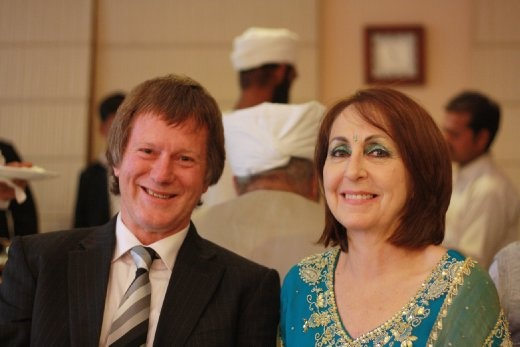 Pete and Gill done up India style