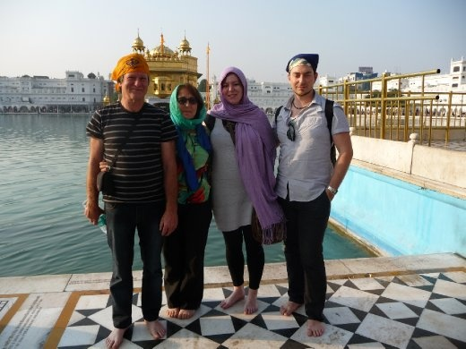 Us all at the Golden Temple
