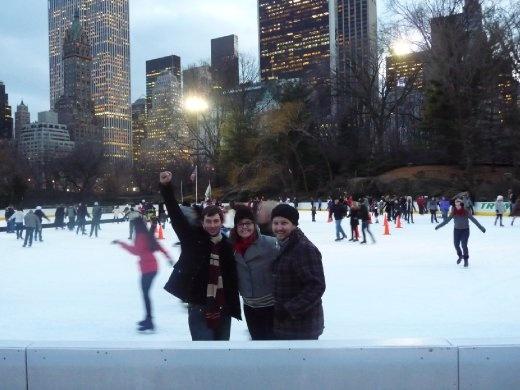 Ice skating, Central Park