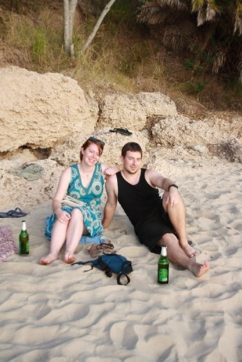 Us enjoying the beach