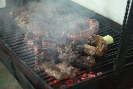 Home cooked Parrilla in our hostel