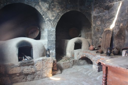 The old ovens in the monestary