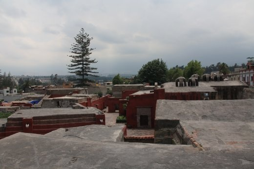 Looking out over the rooftops of Arequipa