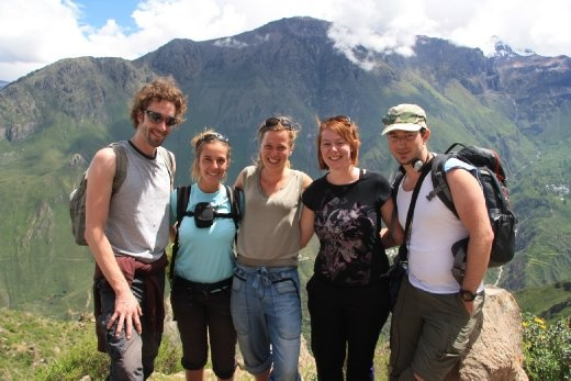 Beginning our Colca Canyon trek with our group