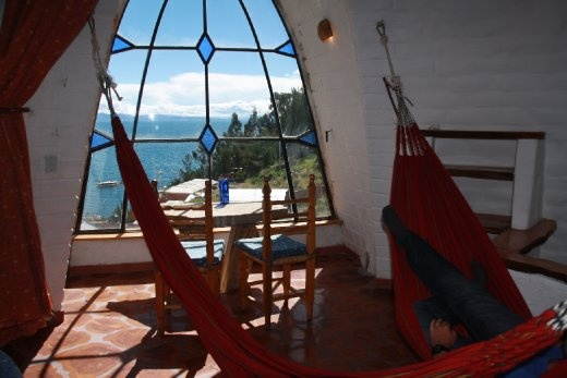 Indoor Hammocks in our Las Olas Guesthouse
