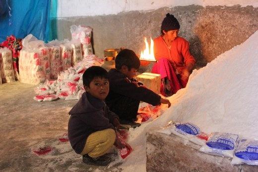 Local family's salt production