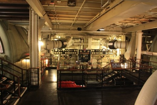 The Queen Mary Engine room