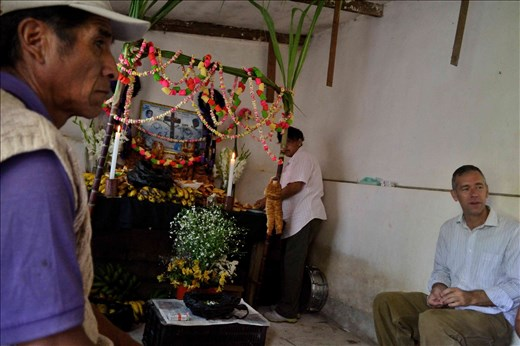 Celebration for the Deaths in Coroico. Altar for i dear recently passed
