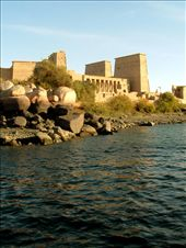 Philae Temple After it was flooded by Aswan low dam 1906, Philae temple been rescued by UNESCO project 1960 where it been transported from it's original island - Philae island- to the nearby island   Agilkia island-  and was assembled     in a way representing it's original status.: by toka, Views[226]