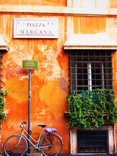 Rome, Italy.   A bicycle is not a mode of transport, it's simply a more intimate journey.
