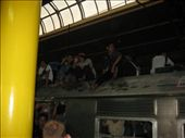 Our train was pretty busy and so some people sat on the roof: by tom-raleigh, Views[225]