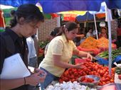 House mate, Mateo, and maestra, Helen shopping for ingredients for ceviches: by tom_moench, Views[272]
