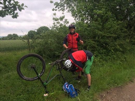 Even punctures can't stop me :-)