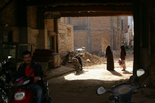Women in Kashgar represent every possible degree of their religion - from mini skirts to complete burqas - and no judgement is passed between locals.