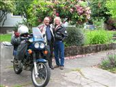 Gary Smith from The Burro Has 3 Wheels and i, in front of his Portland home: by tpara, Views[258]