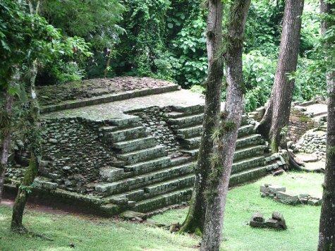 Copan Ruinas still amongst the jungle