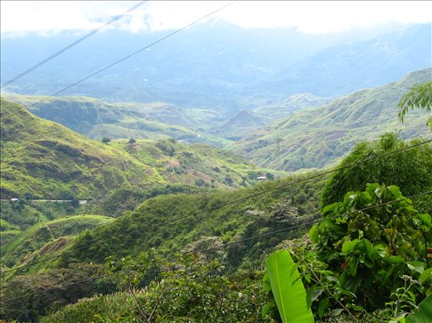 The views Popoyan to Pasto are spectacular