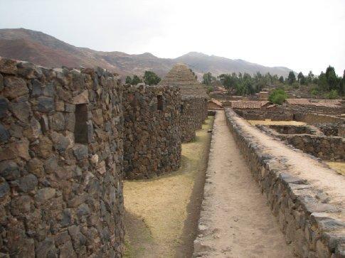 Incan storehouses in Raqchi