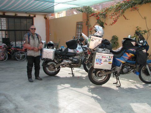 My riding companions bike for the last day in Peru and first in Chiles