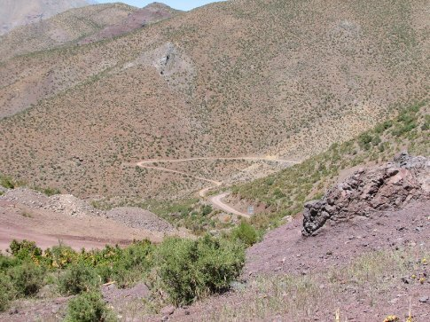 Winding road on the way to Ovalle