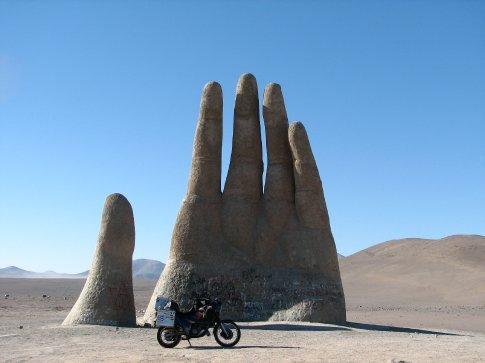 Famous hand of the Atacama