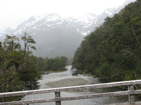 More rivers and snow clad mountains on the pass