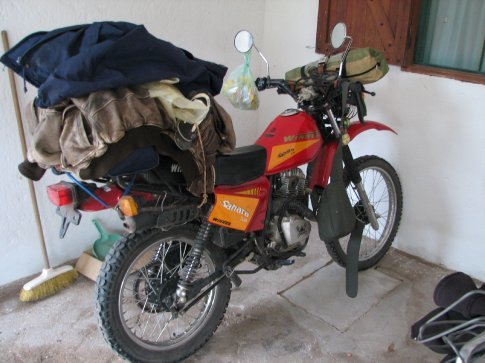 The Honda 125 the Uruguayan i met was riding, i couldnt have a whinge after seeing that.