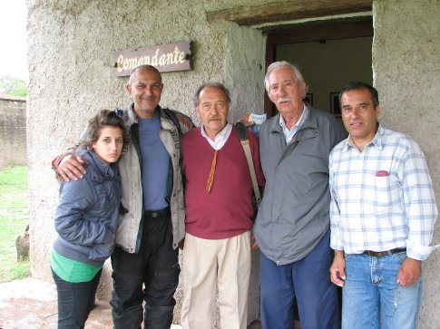 The journalist and family who took me on a guided tour of the fort in a place that i cant remember the name of.
