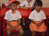 Kindergarteners in the local sekolah!