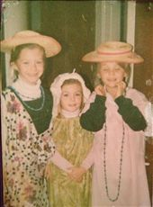 Me, my sister and a friend aged 8 dressing up to sing Italian songs for Choir: by tracie, Views[315]