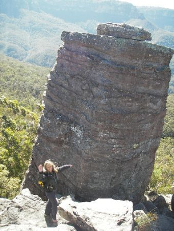 Blue Mountains - Joanne aka Kylie (my guide) on the
