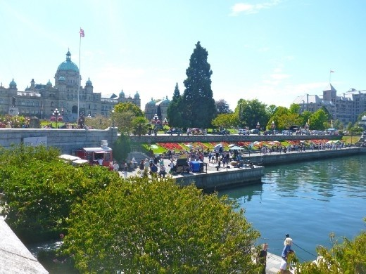Downtown Victoria on a sunny day