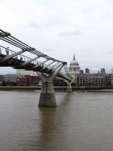 The bridge from Tate to St Paul's