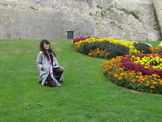 A beautiful garden in front of Chateau Ducal, Caen.