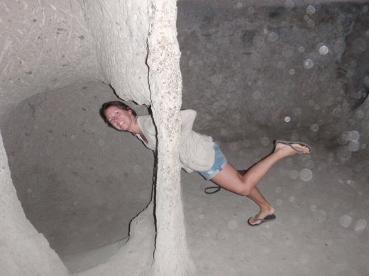 Me in another rock, holes in rocks are fun!!!