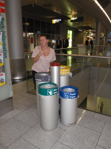 Mum, are you the mayor of Dusseldorf?  There bin system would suggest you are.  This is in their airport.