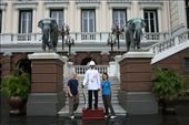 Us with the guard at the Royal Palace in Bangkok (part of the Grand Palace): by traveling_jungs, Views[245]