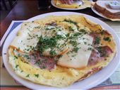 Our delicious ham and cheese ommelette!: by traveling_texan, Views[184]