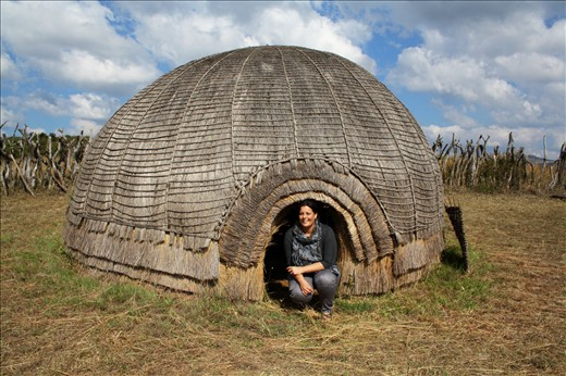 A traditional Zulu hut