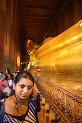 At buddha's feet