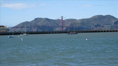 The Gloden Gate bridge - about as close as I would come to it in my short visit.