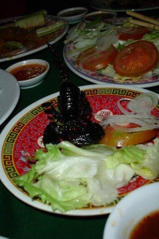 Deep fried scorpion!!!