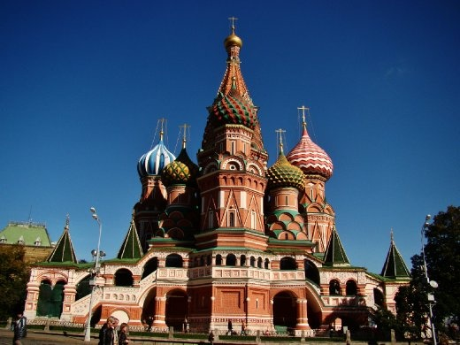 St Basils Cathedral with its colorful onion domes!!